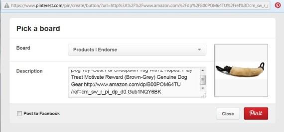 Pinterest -Amazon Screen
