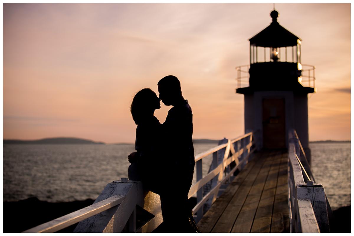 Marshall Point Lighthouse Engagement  Maine Wedding Photographer