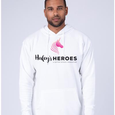 Adult white hoodie