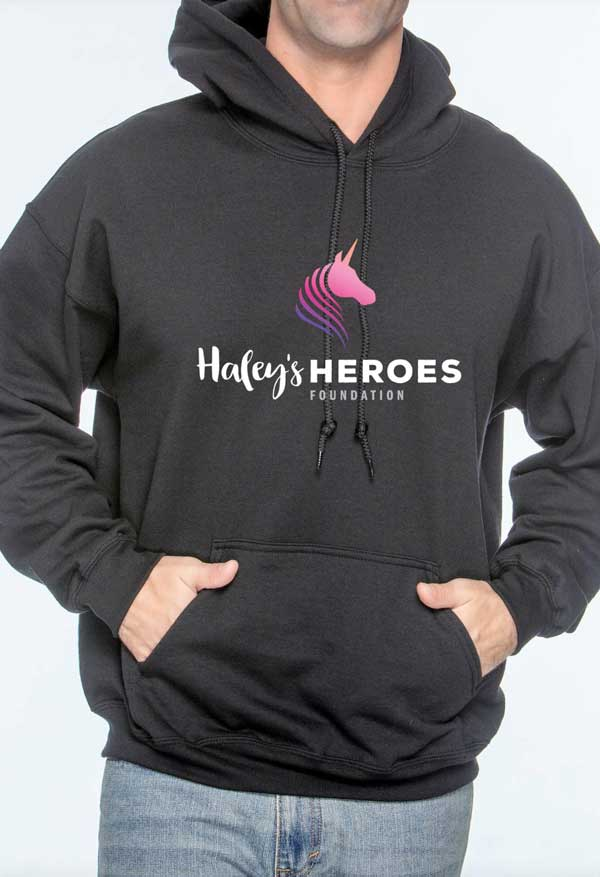 Haley's Heroes Foundation Hoodie in black