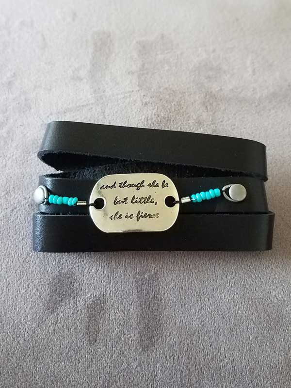 Black Shakespeare Quote Wrap Bracelet