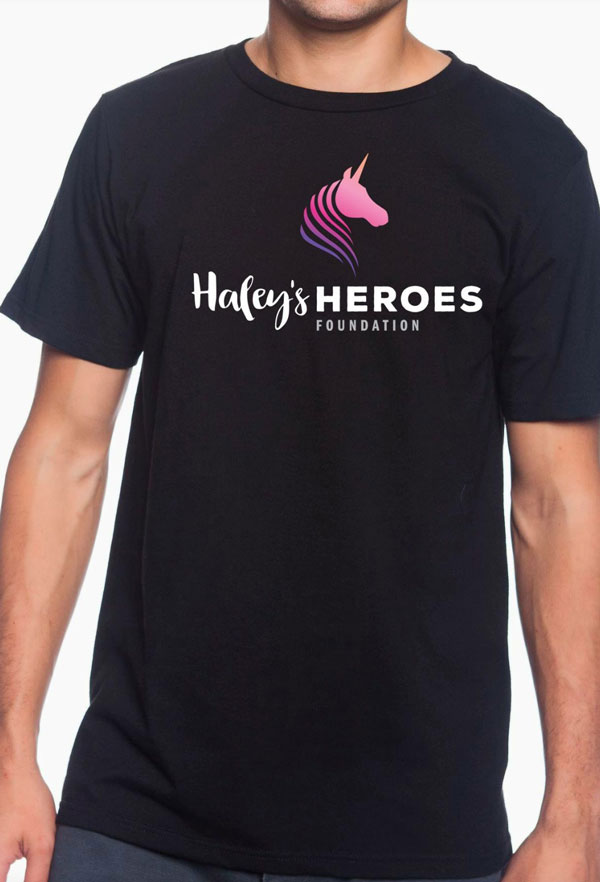 Haley's Heroes T-Shirt in black