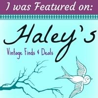 I was featured on Haley's Vintage DIY Bloggers