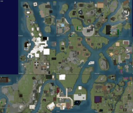 Second Life World Map