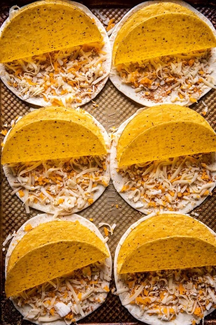 Double Cheesy Gordita Crunch Calories : double, cheesy, gordita, crunch, calories, Homemade, Cheesy, Gordita, Crunch, Tacos., Baked, Harvest