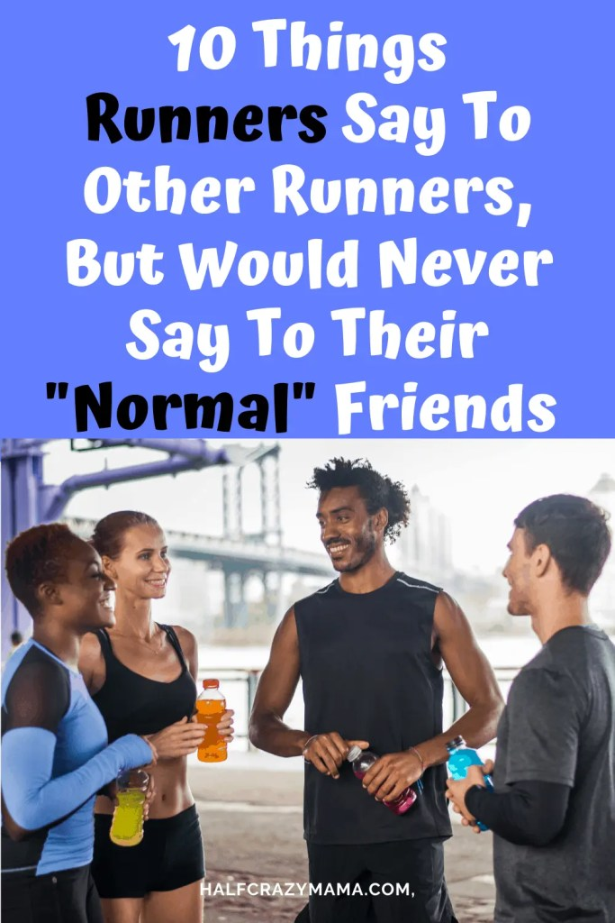 runners talking in a group