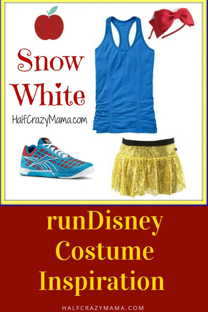 Princess Running Costume Ideas and Inspiration. | runDisney | costume for runners | snow white | princess marathon | DIY costume #runDisney