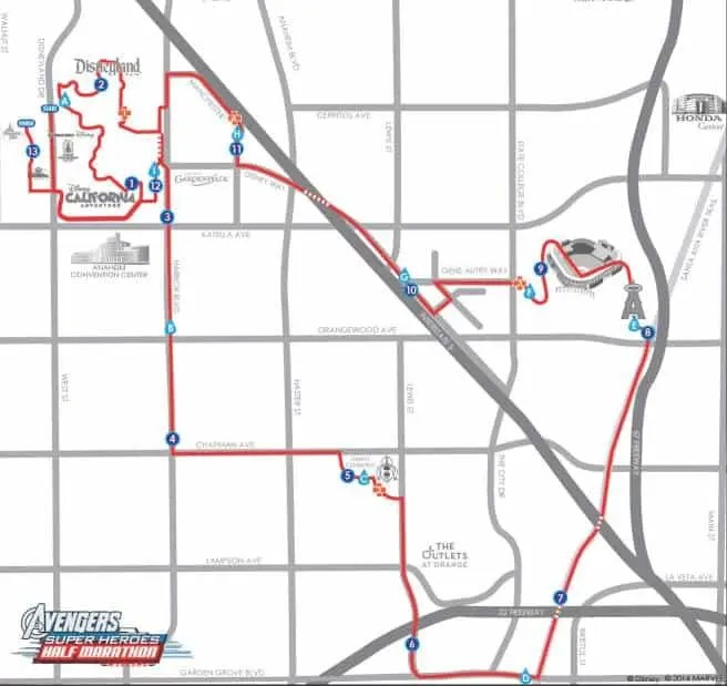 Avengers Half Marathon Course