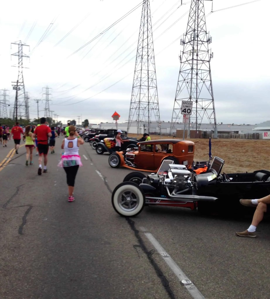 Car clubs cheer on runners at Disneyland Half