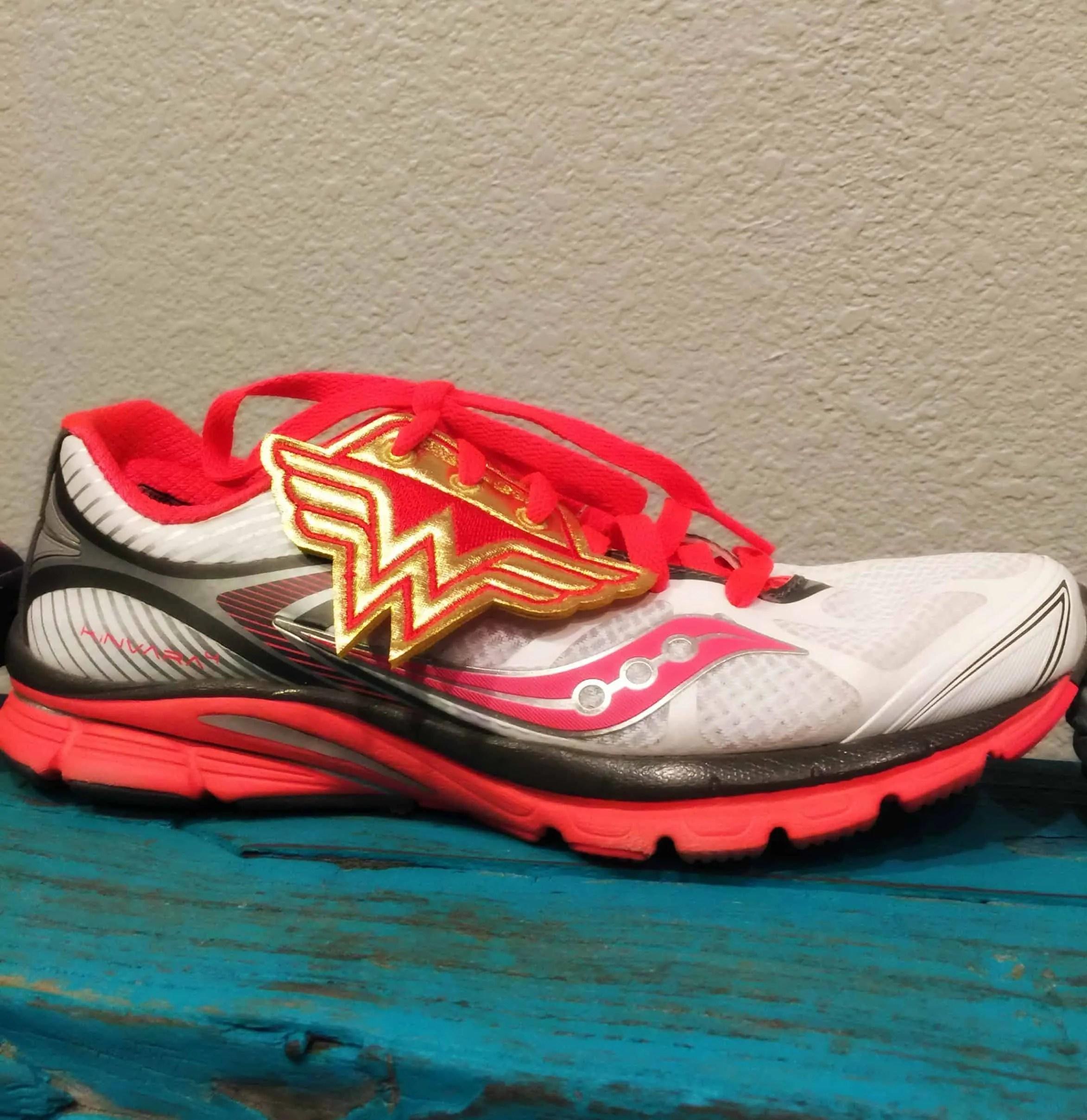 Wonder woman shoe bling