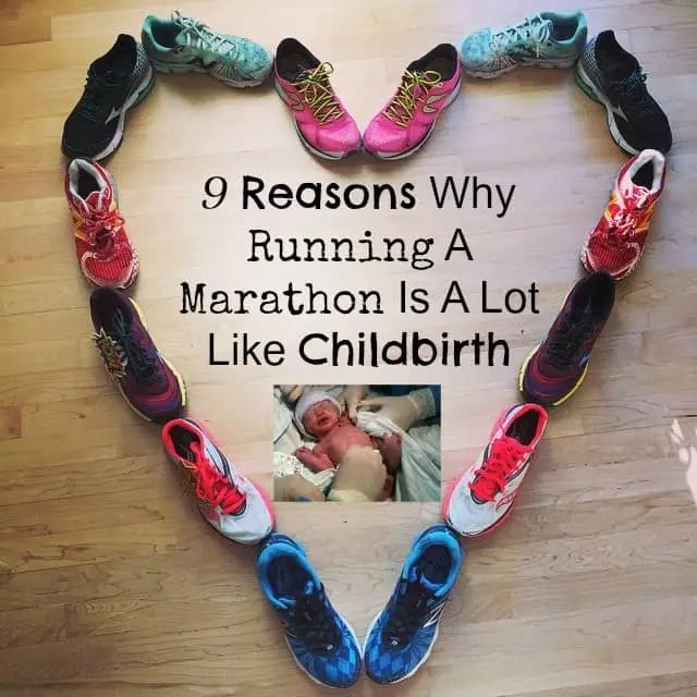 running a marathon like childbirth