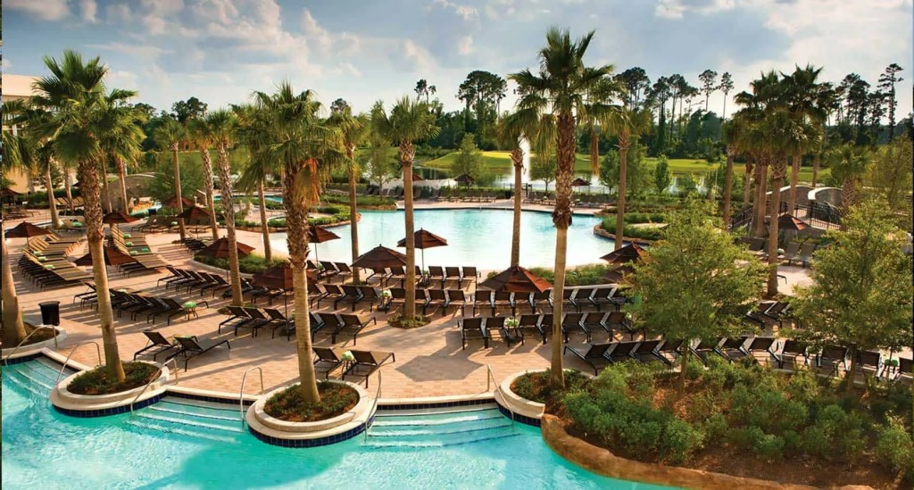 Lazy River Pool Area at Hilton Bonnet Creek