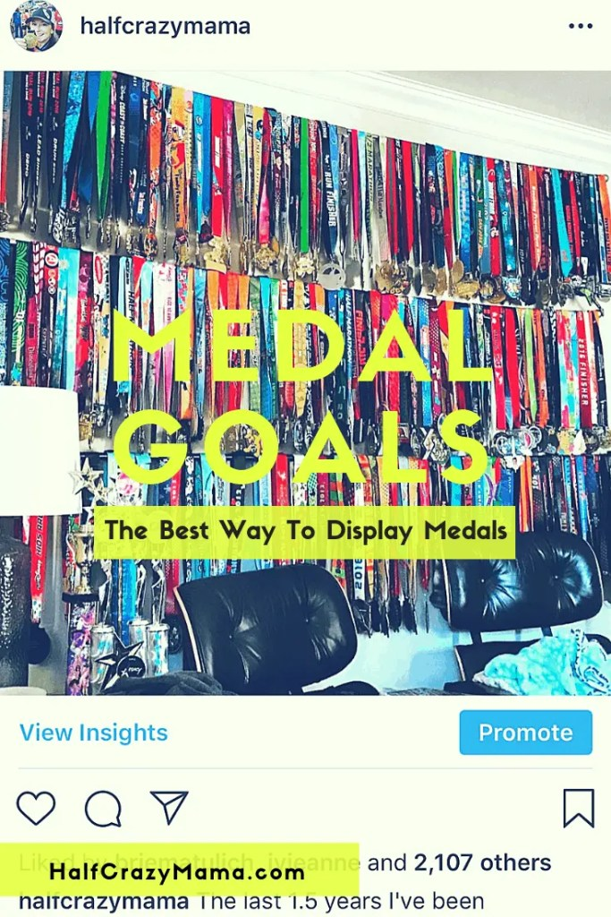 Medal Goals Display Rack | fitness motivation | marathon training | running | runners | inspiration | medal displays