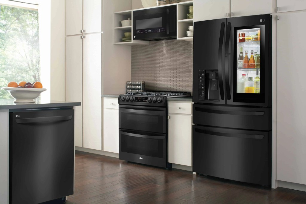 LG Smart Appliances in Matte Black Stainless