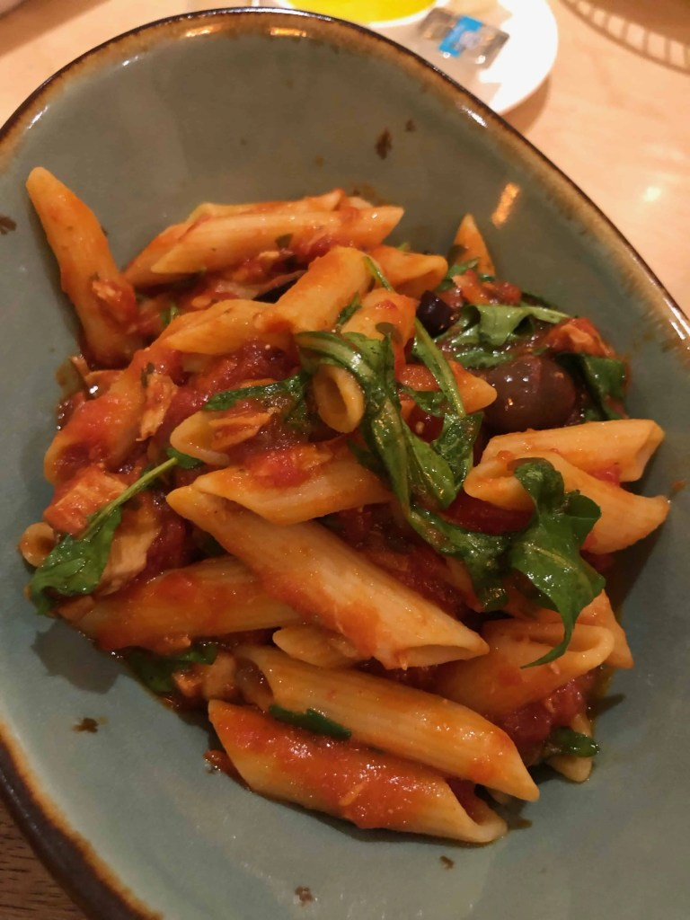 pasta at Harvest Bistro
