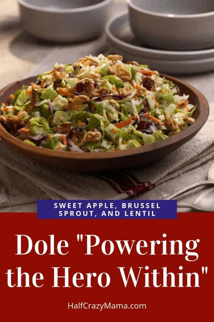Apple Brussel Sprout Lentil Salad