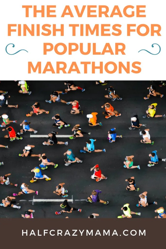 The Average Finish Times For Popular Marathons