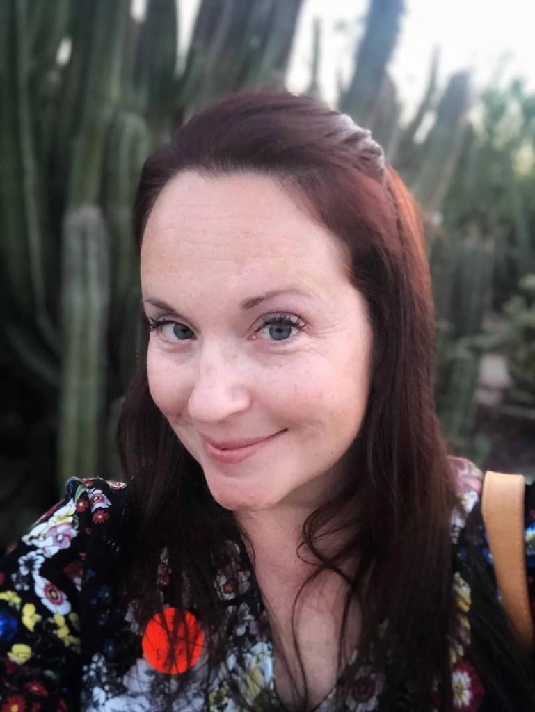 Selfie at desert garden