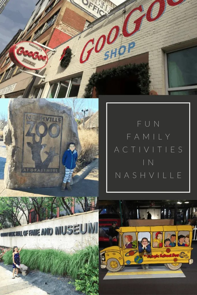 Collage of fun family actives in Nashville