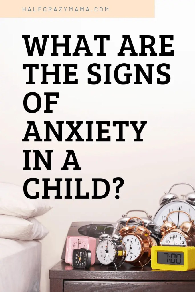 signs of anxiety in a child