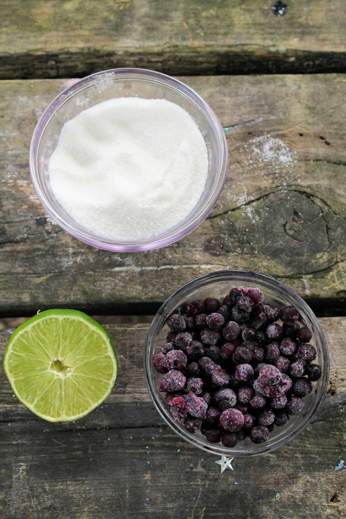Blueberry lime sorbet ingredients