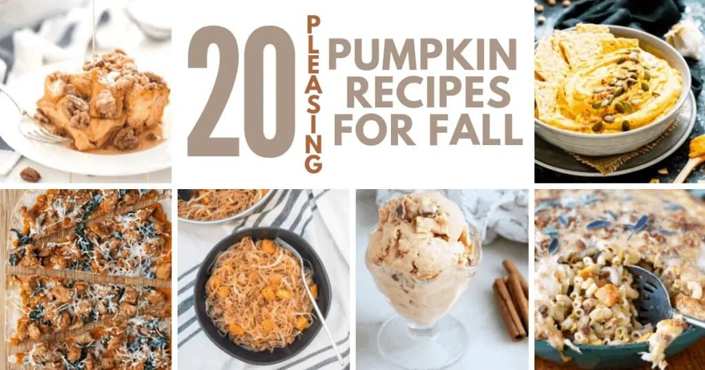 20 Pumpkin Recipes for Fall