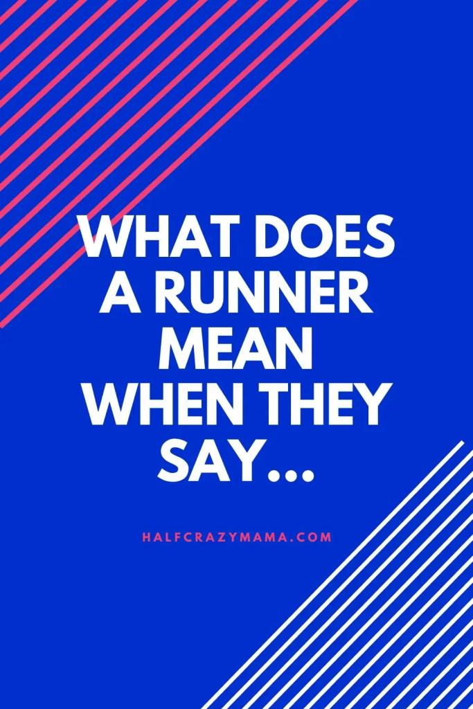 runner terms