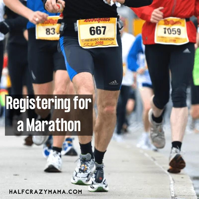 register for a marathon