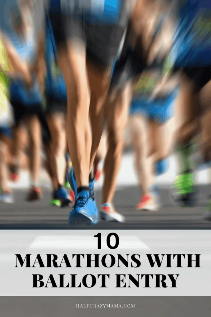 running and registering for a marathon