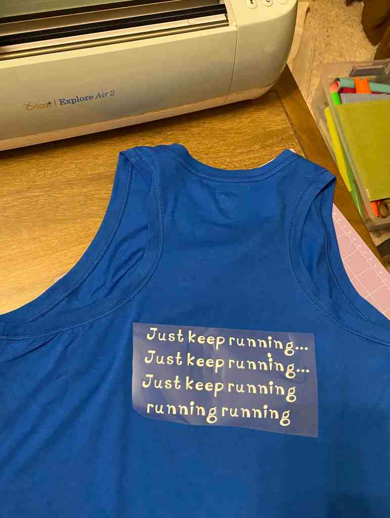 Just Keep Running tank top