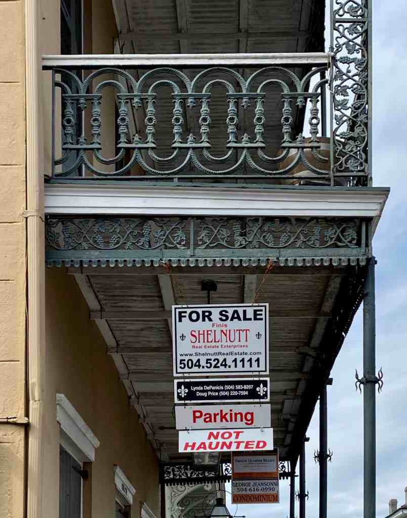 New Orleans real estate sign