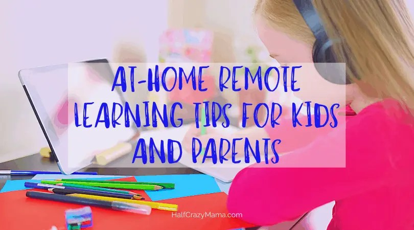 child doing work at home