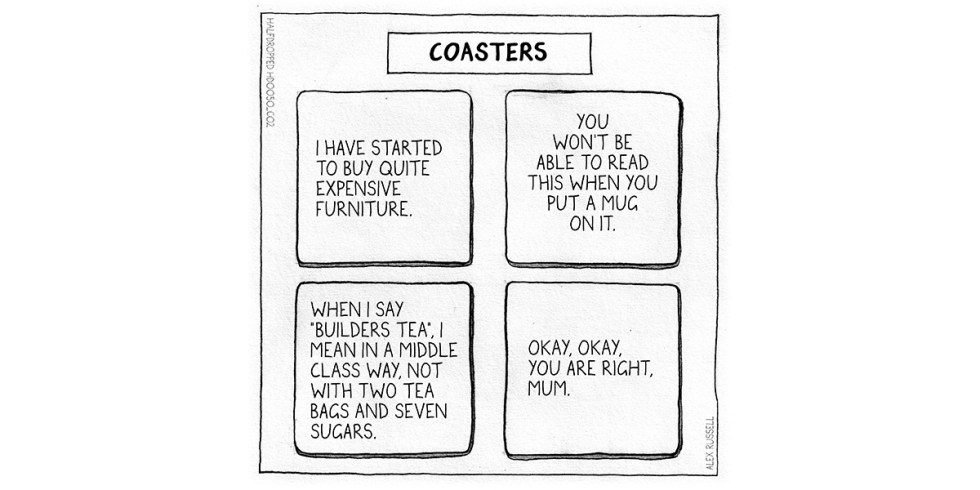 Coasters Halfdropped cartoon