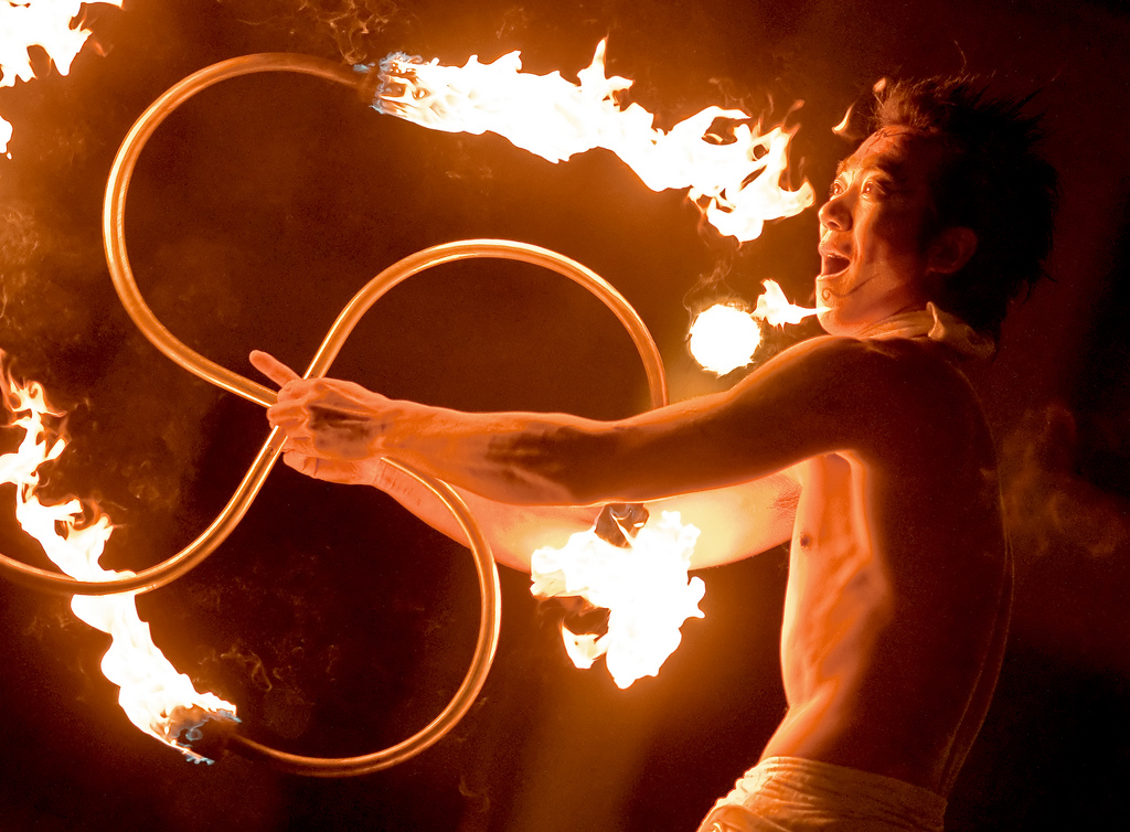 Fire whips