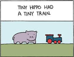 Tiny Hippo Had a Tiny Train