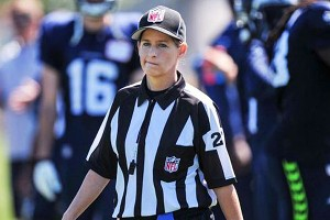 Shannon Eastin - NLF's first female ref.