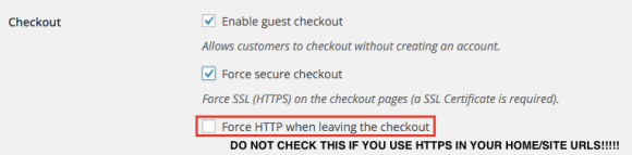 Woo lets you force http on post-checkout pages