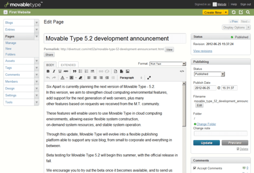 MT's post editor looks like WP 2.x