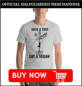 Save a Tree Eat a Vegan T Shirt in Gray
