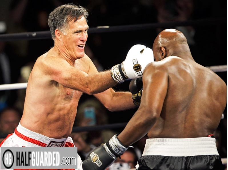 Mitt Romney boxing