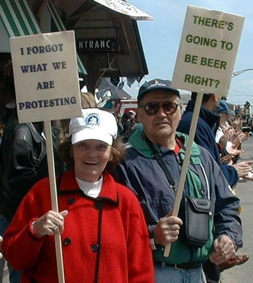 Protesters