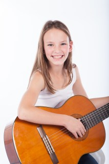 Chiara, our bubbly guitar player!