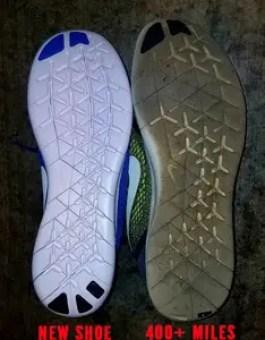 Running Shoe new vs. old