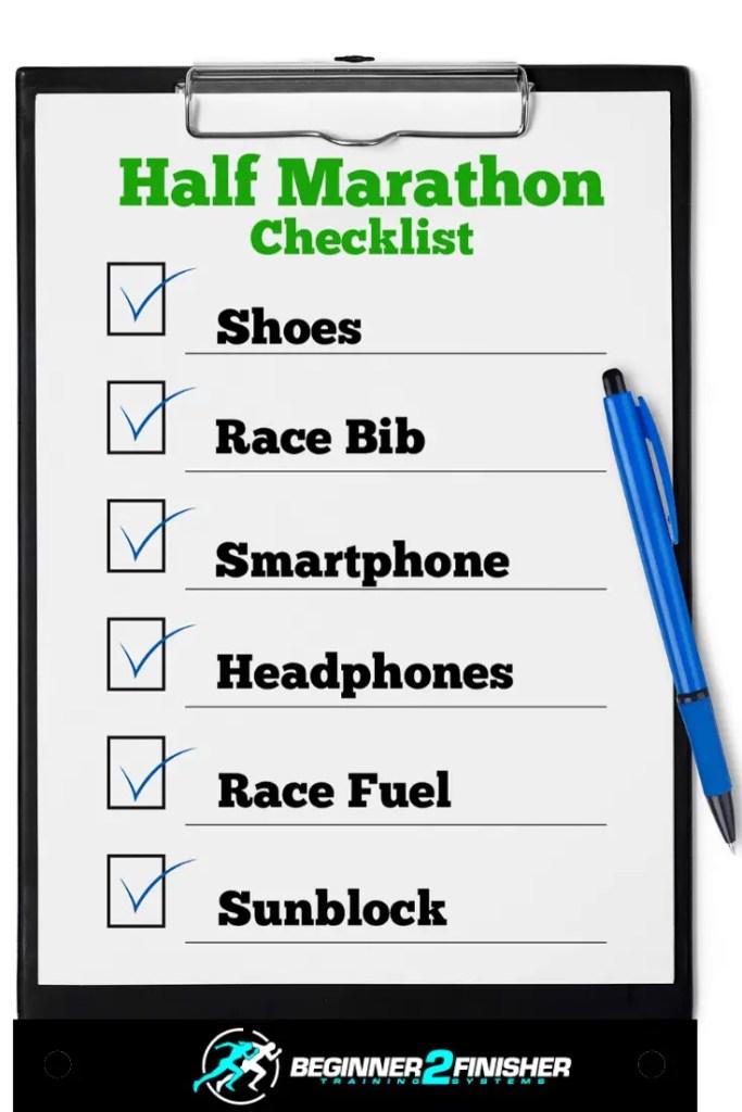 Half Marathon Checklist-pin
