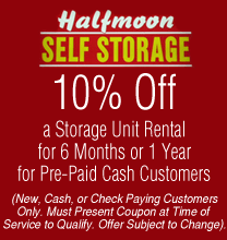 halfmoon self storage coupon