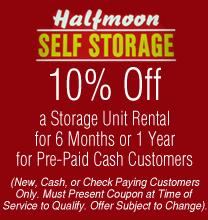 halfmoon self storage coupon