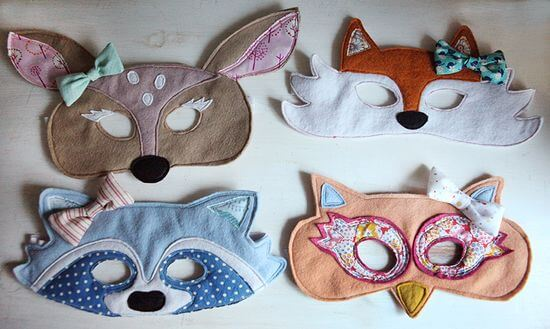 Woodland party, animal mask - Feature Friday: Woodland Party! | Halfpint Design - this cute woodland party was simple but elegant..