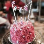Rose cake, Alice in Wonderland Tea Party | Halfpint Design