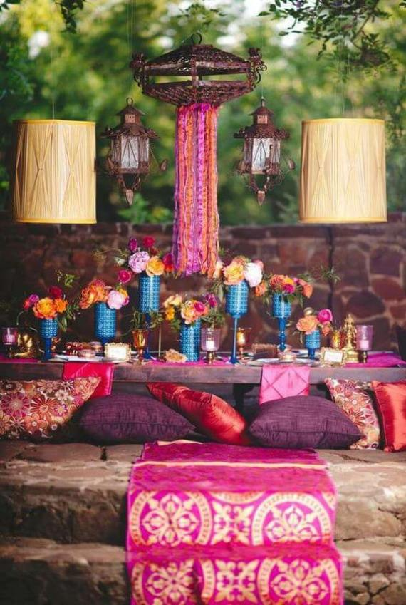 East Indian Boho, Bollywood inspired party. Small World gets big with cultural party themes | Halfpint Design