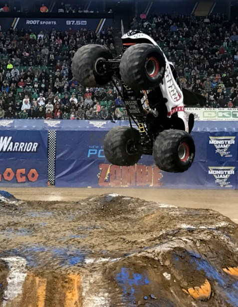 Monster truck drivers are crazy! It's actually really fun to watch. The worst Valentine's date ever...and why I loved it!   Halfpint Design. Valentine's Day Date night ideas, what NOT to do on Valentine's, Valentine's ideas, How to connect with your spouse.